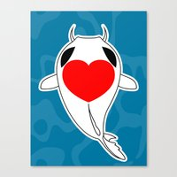 Love Koi Canvas Print