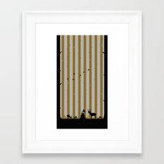 Gold Deer Song Framed Art Print