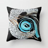 Horn-swirl Inv Throw Pillow