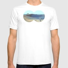 Cosmos & Indians White Mens Fitted Tee SMALL