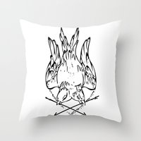 Two Bird Throw Pillow