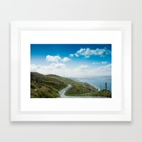 Sky Road Framed Art Print
