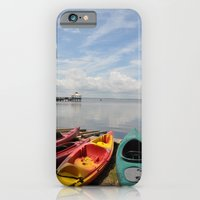 iPhone & iPod Case featuring Bay Landscape with Canoe  by Michael Weitsen