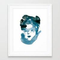 Blue Flame Framed Art Print