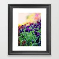 Rainbow Of Flowers Framed Art Print