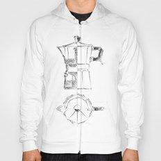 Coffee pot blueprint sketch  Hoody