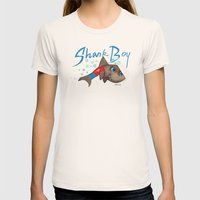 SHARK BOY Womens Fitted Tee Natural SMALL