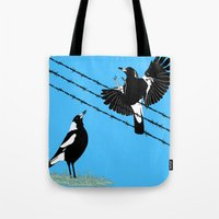 Magpies: Learn To Fly Tote Bag