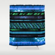 How Busy Are You? (blue-… Shower Curtain