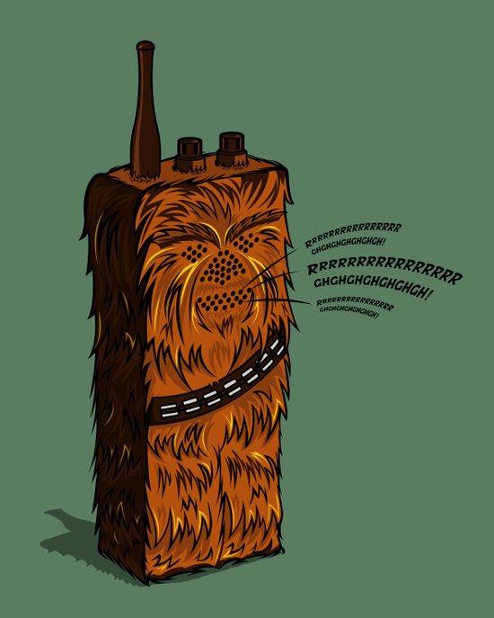 Wookiee talkie Canvas Print