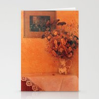 Still life with dry flowers Stationery Cards
