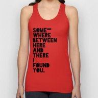 Here & There Unisex Tank Top