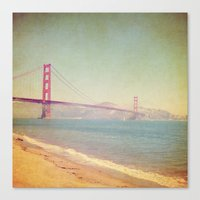 A Golden Day at the Beach Canvas Print