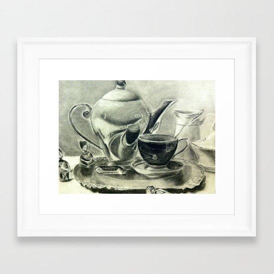 Coffee Then  Framed Art Print