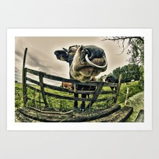 Holy cow its a bull Art Print