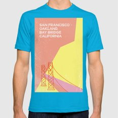 Bridge San Francisco Mens Fitted Tee Teal SMALL