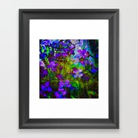 Le village Framed Art Print