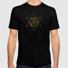 sacred poppy SMALL Black Mens Fitted Tee