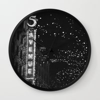 holiday in the city Wall Clock