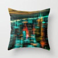 New York - The Night Awa… Throw Pillow