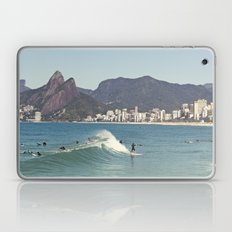 Surfing on Ipanema Beach Laptop & iPad Skin