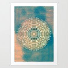 GOLDEN SUN MANDALA Art Print