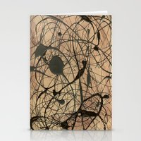 Pollock Inspired Abstrac… Stationery Cards