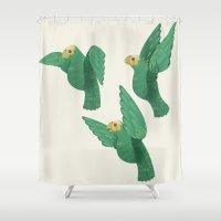 Cotorras Shower Curtain