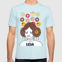 Princess Donut Leia Mens Fitted Tee Light Blue SMALL