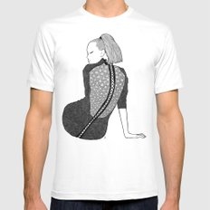 LA FEMME 13 Mens Fitted Tee SMALL White