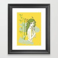 The Strong And The Beaut… Framed Art Print