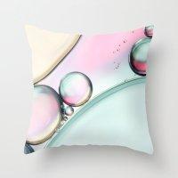 Aqua Fresh Bubble Abstra… Throw Pillow