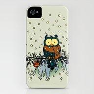 Owl In The Snow V2 iPhone (4, 4s) Slim Case