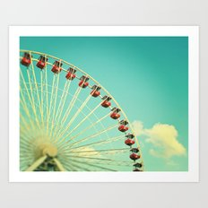 Summer at Navy Pier Art Print