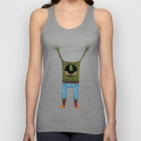 One eyed hipster Unisex Tank Top