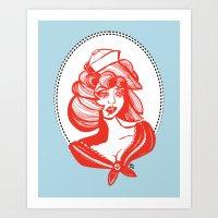 Sailor Girl Art Print