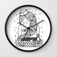 Wall Clock featuring Amour Éternel (Elle) by Alejandro Giraldo