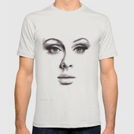 Adele  Mens Fitted Tee Silver SMALL