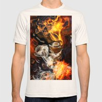 Art Nebula Mens Fitted Tee Natural SMALL
