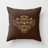 Hawkins Monster Hunting Club Throw Pillow