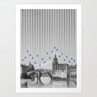La Lluvia En Bilbao Es U… Art Print