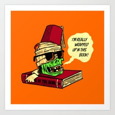 Mummy Reader Art Print