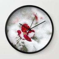 Merry Christmas I Wall Clock