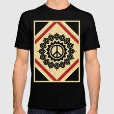 Peace Mandala Mens Fitted Tee Black SMALL