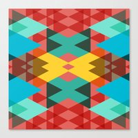 Geometric Crazy 3D Canvas Print