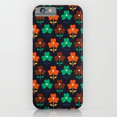 Multy retro flowers black Slim Case iPhone 6s