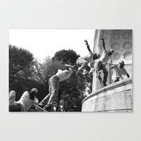 Canvas Print featuring Wipe Out by Misha Dontsov