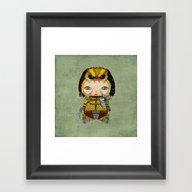 A Boy - Predator Framed Art Print
