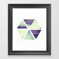 A Park In Pieces. Framed Art Print