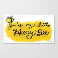 My Little Honey Bee Canvas Print